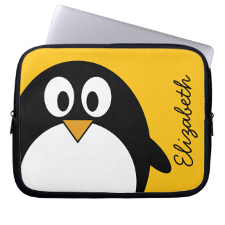 Cute and Modern Cartoon Penguin Laptop Sleeve