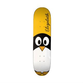 Cute and Modern Cartoon Penguin Skate Decks