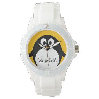 Cute and Modern Cartoon Penguin Watch
