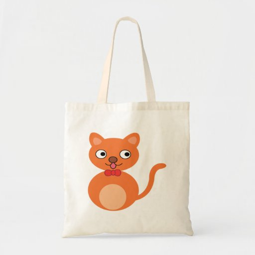 Cute and Orange Cat Canvas Bag