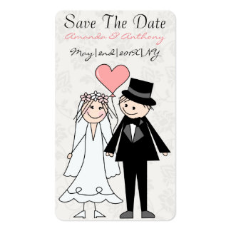 Cute and original save the date pack of standard business cards