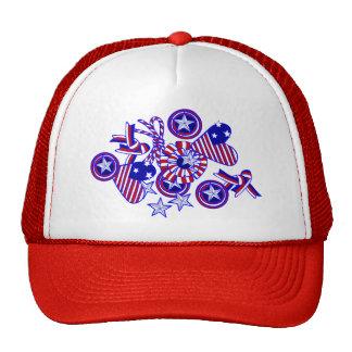 Cute and Patriotic Doodle Art Hat