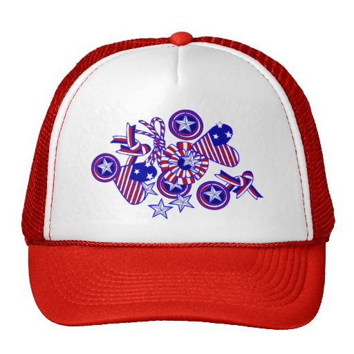 Cute and Patriotic Doodle Art Hat
