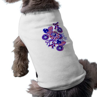 Cute and Patriotic Doodle Art Pet Clothing