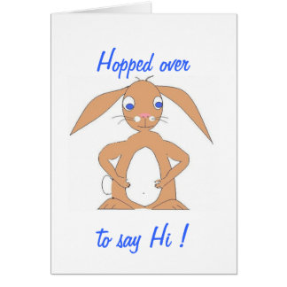 Cute, and perhaps fat, rabbit greeting card