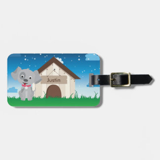 Cute and Playful Puppy or Dog Luggage Tag