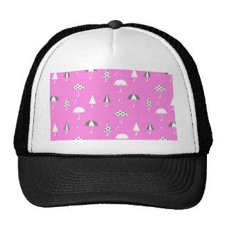 Cute and playful umbrella print cap