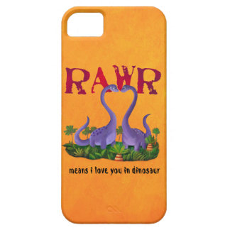 Cute and Romantic Dinos - Rawr Barely There iPhone 5 Case