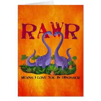 Cute and Romantic Dinos - Rawr Card