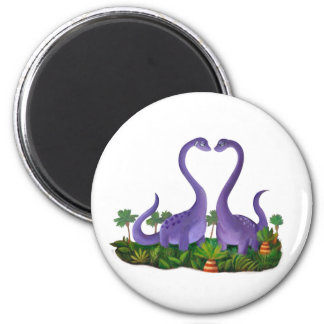 Cute and Romantic Dinosaurs Magnet