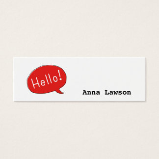 Cute and simple Hello! business card