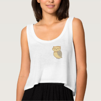 Cute and Simple Owl Tee. Tank Top