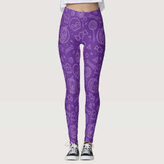 Cute and Simple Purple Halloween Pattern Leggings