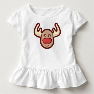 Cute and Simple Rudolf Reindeer | Ruffle Tee