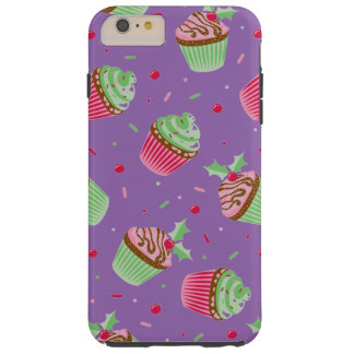 Cute and sweet Christmas colored cupcakes Tough iPhone 6 Plus Case