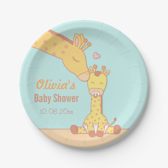 Cute and Sweet Giraffe Baby Shower Supplies Paper