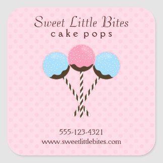Cute and Trendy Cake Pops Square Sticker