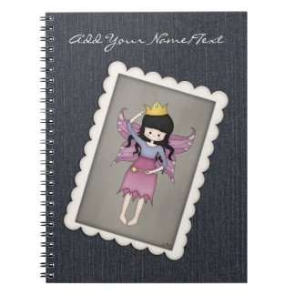 Cute and Whimsical Little Fairy Princess Girl Notebook