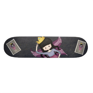 Cute and Whimsical Little Fairy Princess Girl Skate Board Deck