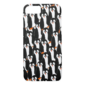 Cute and Whimsical Piles of Penguins iPhone 7 Case
