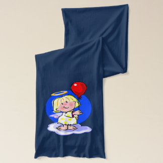 Cute Angel And Red Balloon Scarf