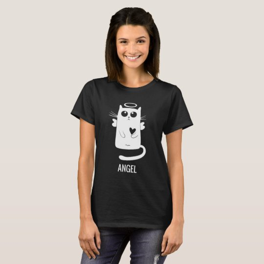 Cute Angel Cat Design T-Shirt