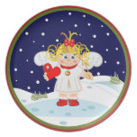 Cute Angel Christmas Plats Plate