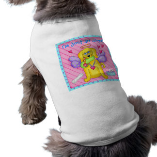Cute Angel Dog with Wings on Pink Sleeveless Dog Shirt