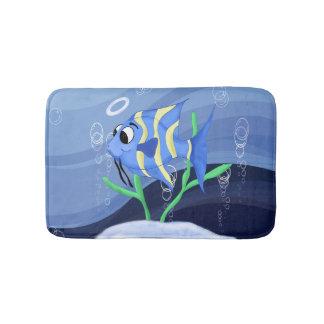 Cute angel-fish cartoon bath mat