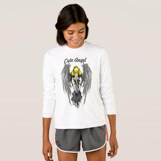 Cute Angel Girls' Sport-Tek Competitor Long Sleeve T-Shirt