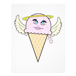 cute angel ice cream cone cartoon 21.5 cm x 28 cm flyer