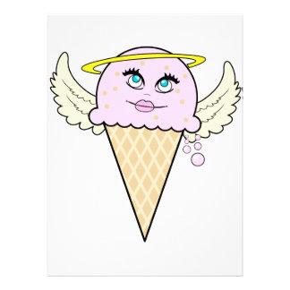 cute angel ice cream cone cartoon custom announcement