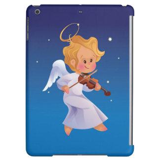 Cute angel playing violin