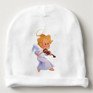 Cute angel playing violin baby beanie