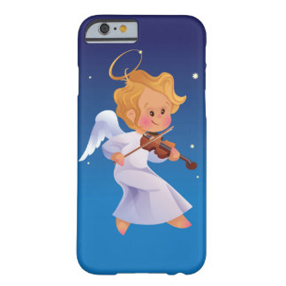 Cute angel playing violin barely there iPhone 6 case
