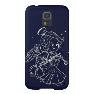 Cute angel playing violin case for galaxy s5