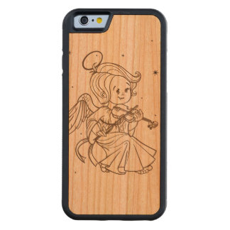 Cute angel playing violin cherry iPhone 6 bumper case