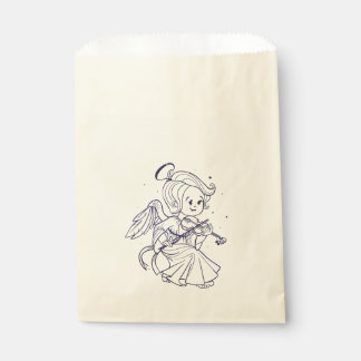Cute angel playing violin favour bags