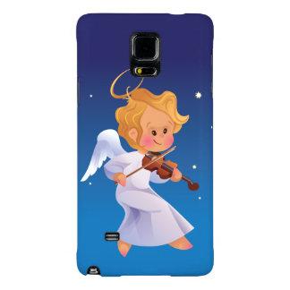 Cute angel playing violin galaxy note 4 case