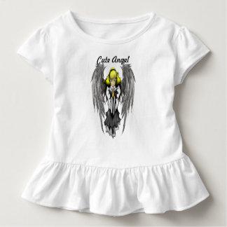 Cute Angel Toddler Ruffle Tee