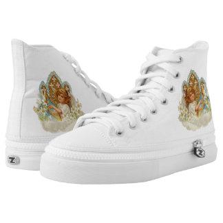 Cute Angel Zipz High Top Printed Shoes