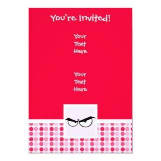 Cute Angry Eyes 13 Cm X 18 Cm Invitation Card