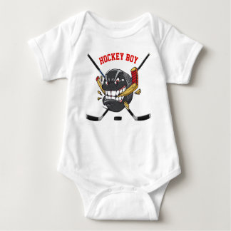 Cute Angry Hockey Boy Shirt, Baby One Piece Baby Bodysuit