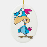 cute angry mean bird cartoon character christmas tree ornaments