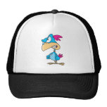 cute angry mean bird cartoon character hats