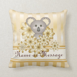 Cute Animal Baby Koala Gold Effect Kids Christmas Cushion