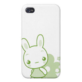 Cute Animal Character Bunny Green Case For iPhone 4