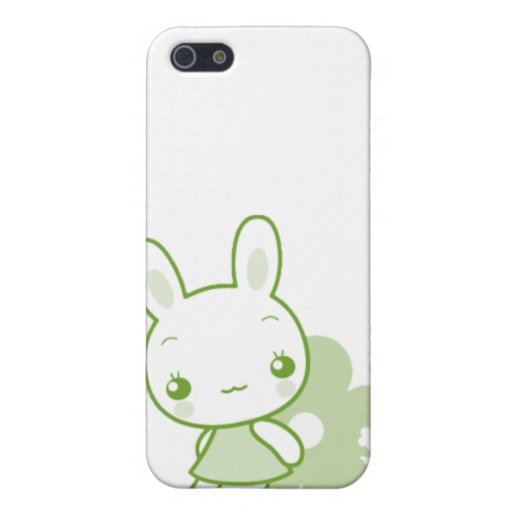 Cute Animal Character Bunny Green Cover For iPhone 5