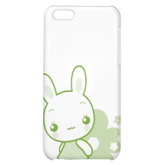 Cute Animal Character Bunny Green iPhone 5C Cover