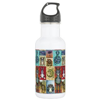 Cute Animal Collage Folk Art Design 532 Ml Water Bottle